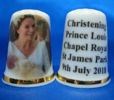 Birchcroft China Thimble - Duchess of Cambridge with Prince Louis at Christening