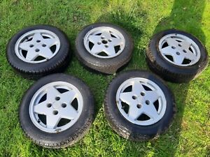Ford Escort mk5 XR3i Cabriolet Convertible Alloy Wheels 14inch set of 5