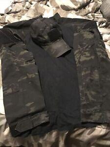 TRU spec combat shirt Multicam Black