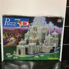 MB Puzz 3D jigsaw Camelot Castle Extra Challenging 620 Pieces 1998 complete used