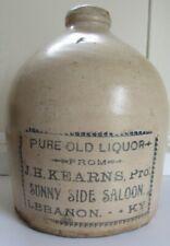 Stoneware Advertising Saloon Jug - C - 1890 - Kentucky  Sunny Side Saloon
