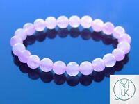 Rose Quartz Natural Gemstone Bracelet 7-8'' Elasticated Healing Stone Chakra
