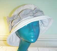 POP GOES THE WEAZEL EDWARDIAN STYLE HAND MADE SOFT CLOCHE HAT CREAM NATURAL