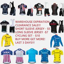 Big Clearance Sale! Cycling Jersey Long Short Sleeve Bike Shirt Cycle Jersey Set