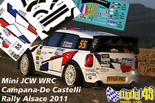 DECAL  1/43 - MINI WRC - CAMPANA - Rally FRANCIA ALSAZIA   2011