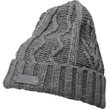 Mens Boys Kangaroo Poo Cable Beanie Mid Grey Marl Winter Hat One Size RRP £12.99