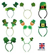 ST PATRICKS DAY HEAD BOPPER HEADBAND Irish Fancy Dress Costume Party Mini Hat UK