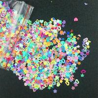5000pcs Nail Art Glitter Heart Flower Star Sequins Decor Stickers Decals D4P6