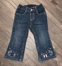 Gymboree Penguin Chalet Embroidered Jeans ~ Size 18-24 Months