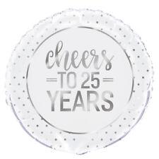 """25 anni 25th ANNIVERSARIO Diamante Decorazione Festa Matrimonio 18"""" Foil Balloon"""