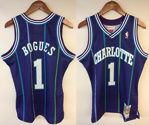 Muggsy Bogues Charlotte Hornets Mitchell & Ness NBA Authentic Jersey 1994-1995