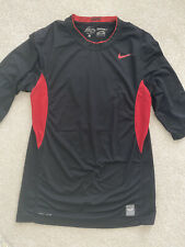 Nike Pro Combat Compression dri-fit 3/4 fitted Black shirt large