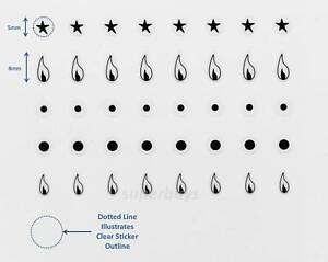 40pc Flame Ignition Gas Dot Indicator Dial Oven Stove Decal Sticker Cooker Label