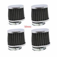 4PCS 50MM Air Filter Pod Cone Motorcycle Washable Universal fit SUZUKI YAMAHA