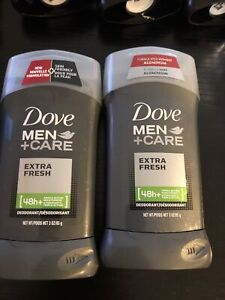 2 Packs Dove Men+Care Extra Fresh 48-Hour Deodorant Stick - 3oz Each Solid