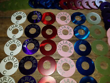 5 Powder Coated and laser engraved Washers for Toss Pitching Game - Gloss!
