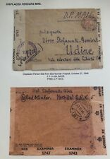 1946 Bad Munder Hospital Germany Displaced Person Dp Camp Cover to Udine Italy