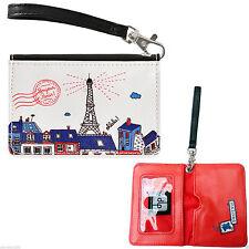 """Étui À cartes """"bonjour Paris"""" Bleu pour Badge de Sac Femme DLP Derrière la Porte"""