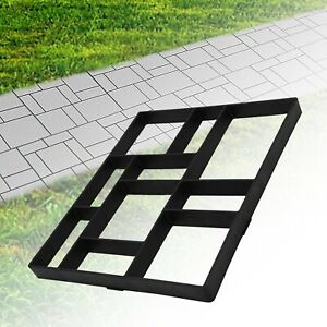 DIY Durable Garden  Pavement Mold Patio Concrete Stone Path Walk Maker Mould