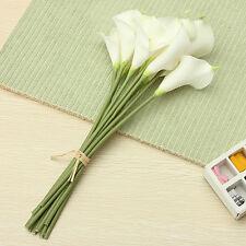 10PCS Fine Artificial Latex Calla Lily Flowers Home Decoration Wedding Decor