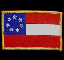1ST FIRST NATIONAL CONFEDERATE FLAG FULL COLOR TACTICAL IRON ON MORALE PATCH