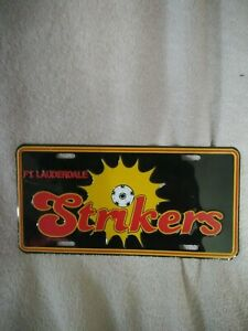 Ft Lauderdale Strikers Vintage Metal License Plate Sign Souvenir Football Soccer