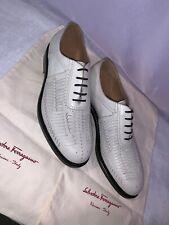 Salvatore Ferragamo Tramezza Style Foster Men Shoes Ivory Color $2100