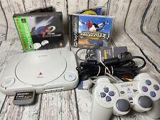 Sony Playstation PS One Bundle Console W/ Tony Hawk, Gran Turismo, & Memory Card