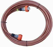 15 Amp IP66 Screened Extension Lead: 3 pin flat,240V. Cable CSA:2.5mm², Cord:15m
