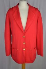 VINTAGE 1980s ESCADA red wool knitted cardigan style coat size 40 (UK14)