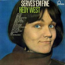 """Rare! Hedy West LP """"Serves 'Em Fine"""" UK Fontana records STL5432 1967"""