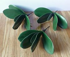 3 Green Orchid Leaf Artificial Grass Decoration Flowers Plants