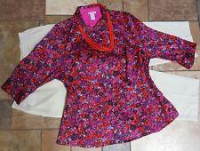 women's plus size clothing lot sz 18 pants, 1x blouse,  necklace EUC