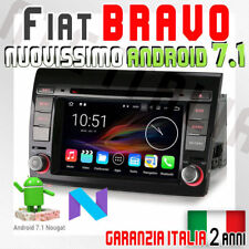 "AUTORADIO 7"" Fiat Bravo Android 7.1 Navigatore Gps Comandi DTV/AUX/GPS/USB/SD/3G"