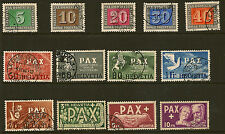 SWITZERLAND:1945 Peace   set SG 447-59 used
