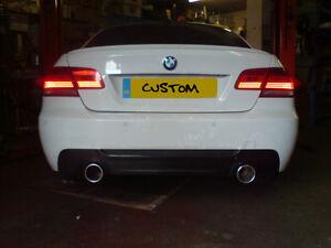 BMW E92/E93/318/320d/320i/COUPE/EXHAUST/DUAL EXIT CUSTOM EXHAUST/335i style