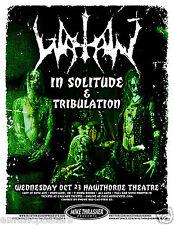 Watain /In Solitude /Tribulation 2013 Portland Concert Tour Poster - Metal Music