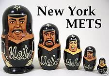 N.Y. Mets Baseball Russian Nesting Doll Set Collectible