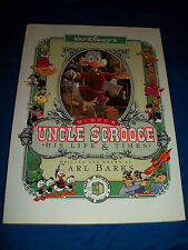 UNCLE SCROOGE McDUCK:His Life & Times PAPERBACK Book CARL BARKS Disney Softcover