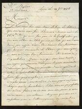 FRANCE 1774 ENTIRE LETTER M.DAVERNEY to DEYDIER...LYON