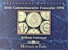 Frankrijk:SERIE COMMEMORATIVE  BU 1996: 1-, 5 en (100 Fr=zilver )