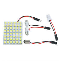 T10 5050 LED White Car Interior 48 SMD Lamp Panel Light Festoon Dome BA9S 12V 5W