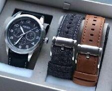 NWT Fossil Flynn Pilot Men's Watch Set BQ2308SET