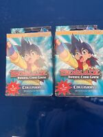 LOT OF 2  Beyblade  Trading Card Game Collision 60 Card Starter Deck  2003