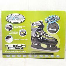 Boys Size 2-5 Lake Placid Adjustable Sizing Ice Skates . New In Damaged Box.