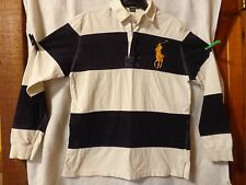 Vintage Polo By Ralph Lauren Men's Size Small Blue/White Large Pony Logo Good