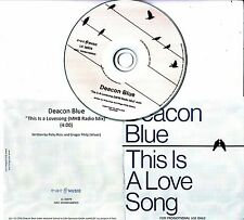 DEACON BLUE This Is A Love Song 2016 UK 1-track promo test CD