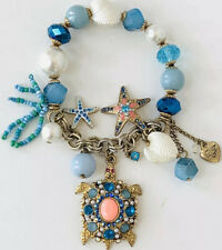 BETSEY JOHNSON UNDER THE SEA TURTLE STARFISH SHELL BRACELET ECU