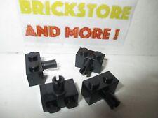 Lego - 4x Brique Brick Technic 1x2 2x1 pin 2458 Black/noir/schwarz
