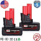 2x for Milwaukee M12 12V XC 6.0 Extended Capacity Battery 48-11-2460 48-11-2412
